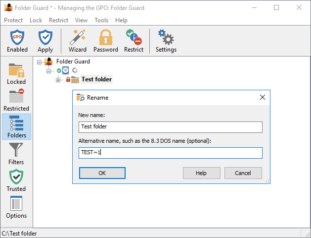 Folder Guard User's Guide