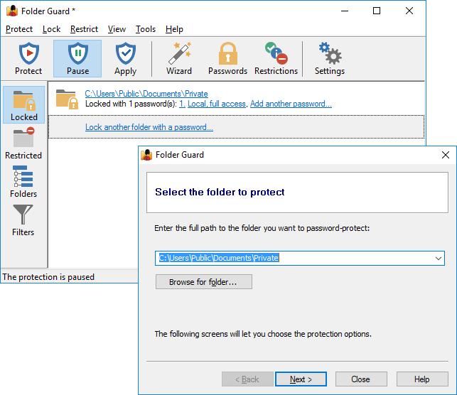 folder password protect: