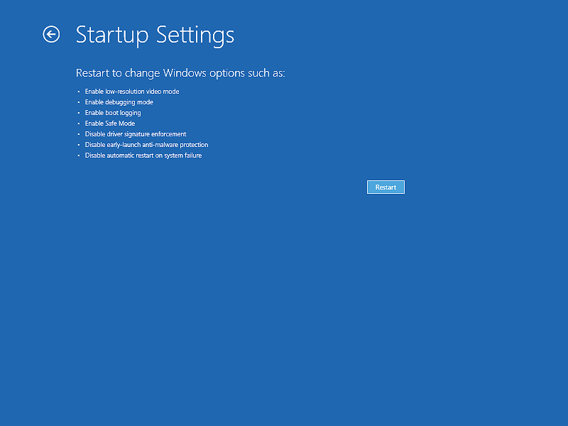 Restarting Windows 10 and Windows 8 in the safe mode