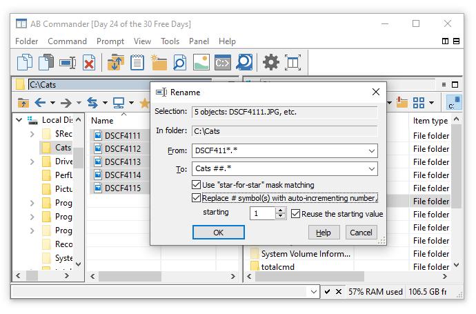rename files | WinAbility Software