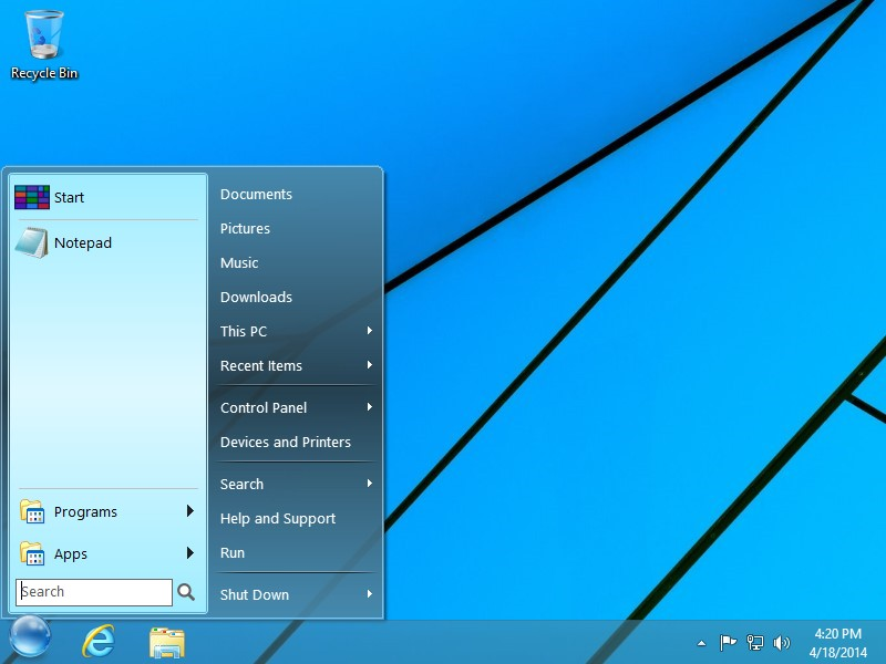 Startfinity The Real Start Menu For Windows 10 8 8 1