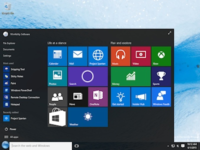 Windows 10 comes with its own Start Menu.