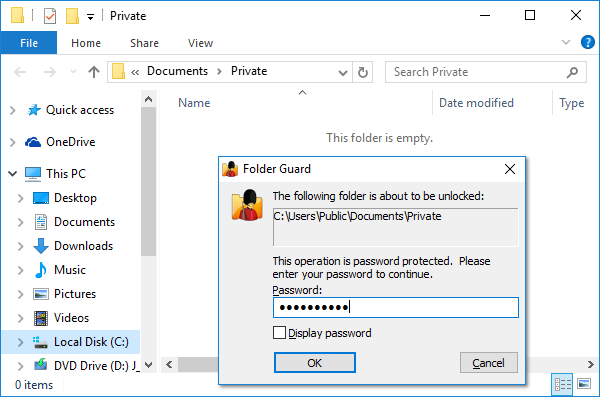 Download Password Protect 3.4 - Protect your sensitive files and folders with this powerful program.